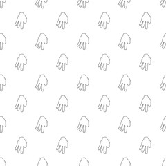 Three fingers pattern vector seamless repeating for any web design
