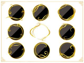 丸型(円形)飾り罫素材セット