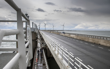 Motorway on Dutch storm protection Delta works