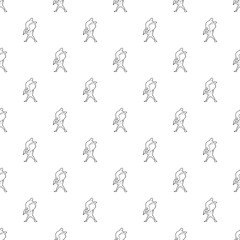 Waving player pattern vector seamless repeating for any web design