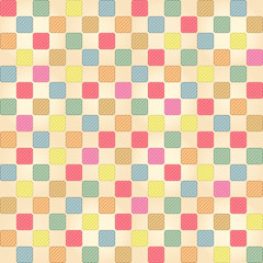 Seamless vector cute colorful checkers pattern