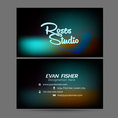 nice and beautiful templates for Business Card or Visiting Card with creative design illustration.