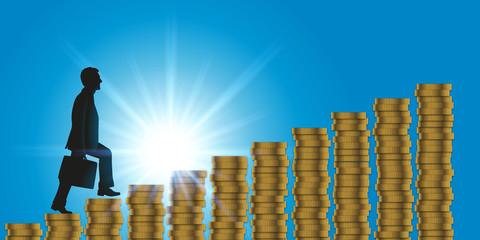 business - gagner de l'argent - concept - réussite - succès - richesse - riche - augmentation