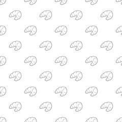Croissant pattern vector seamless repeating for any web design
