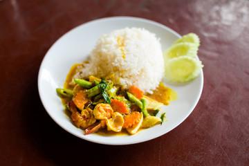 Thai curry seafood Koh Mook