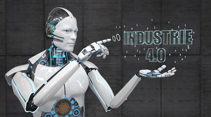 Weißer Roboter Industrie 4.0