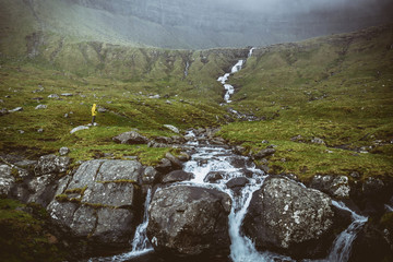waterfall in faroe