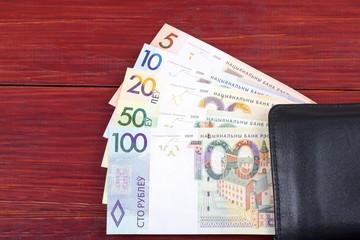 Money from Belarus in the black wallet