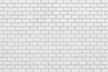 White brick stone wall pattern and seamless background