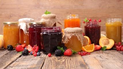assorted jam and marmalade