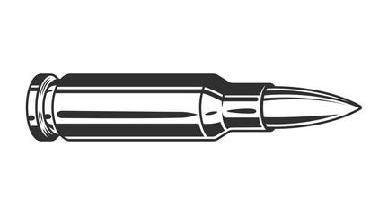 Vintage monochrome gun bullet template