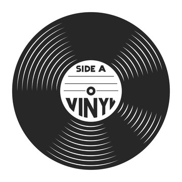 Retro vinyl record concept