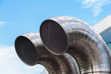 Stainless steel pipes. Air exchange ducts, underground constructions.