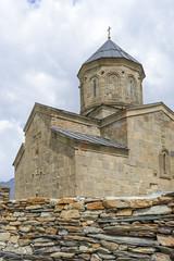 Holy Trinity Church near the village of Gergeti, Georgia
