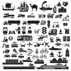 transport icons vector sign and symbol.