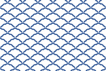 シームレスな和柄パターン「青海波」