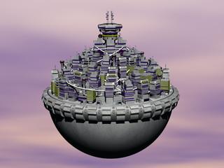 Kügelfförmige Wolkenstadt