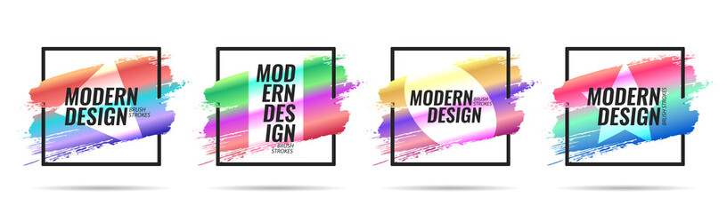 Frame for the title in a modern style for hipsters. Elements for the design of banners, leaflets, flyers, posters, brochures, gift cards. Vector illustration