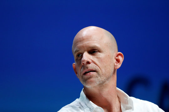 Tor Myhren, Vice President, Marketing Communications of Apple, attends a conference at the Cannes Lions International Festival of Creativity, in Cannes