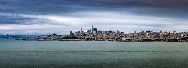 Fototapete - San Francisco skyline panorama