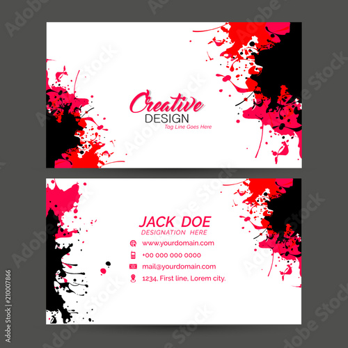 Nice And Beautiful Template Design For Business Card Or Visiting