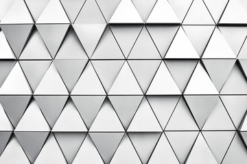Geometric silver background with rhombus and nodes. Modern dilver background..