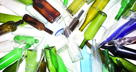 Printed roller blinds Alcohol recycling glass on white