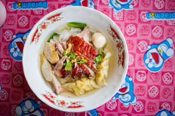 Thai dimsum duck clear soup