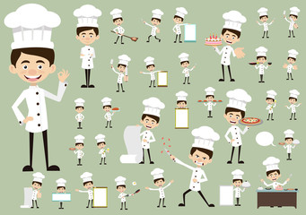 Chef Vector Illustration Design -  Huge set ofvarious poses