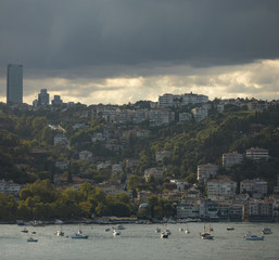 Istanbul Bebek cove district from Asian side