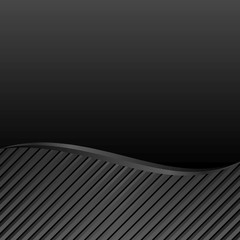 black abstract background with curved divider