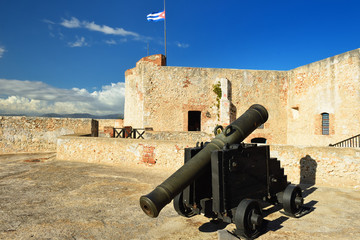 Foto auf Leinwand Befestigung Cuba, Castle San Pedro de la Roca del Morro, Santiago de Cuba