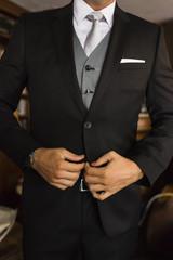 man suit with elegant tie