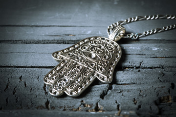 old hamsa amulet or hand of fatima