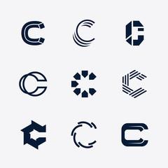 Letter C Alphabet Logo Set
