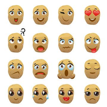 Potato Emoji Emoticon Expression