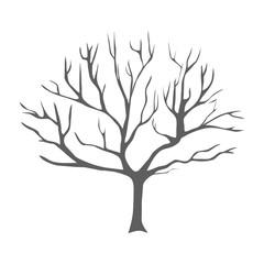 silhouette autumn tree illustration