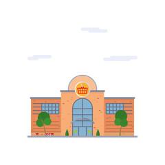 Shopping mall flat design vector illustration