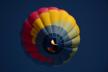 Hot air balloon colorful in sky