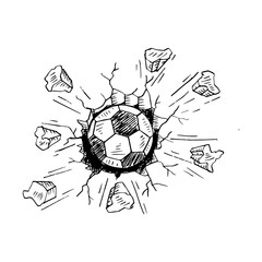 Sketch of football