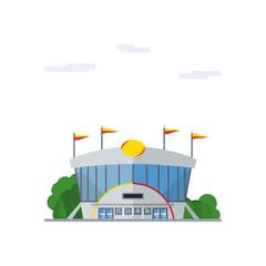 Stadium flat design vector illustration