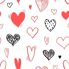Heart fashion pattern