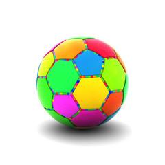 カラフルなサッカーボール
