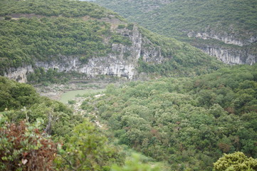 Scenery in the Groges de l'Ardeche near Vallon-Pont-d'Arc