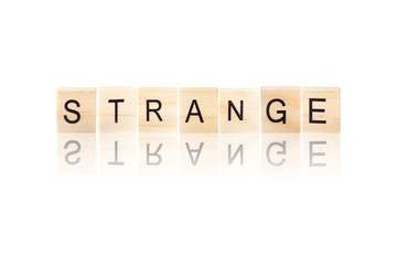 Black strange word.