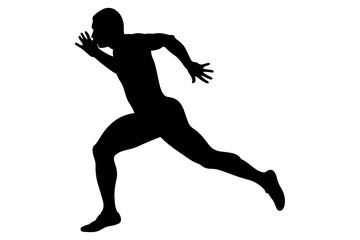 finish line runner sprinter black silhouette athletics competition