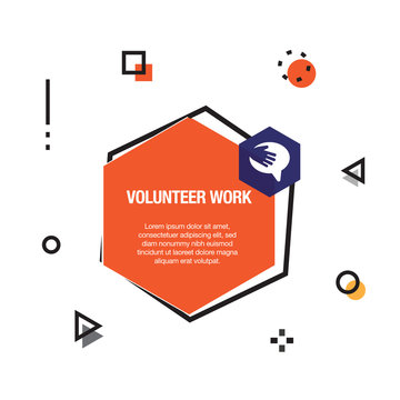 Volunteer Work Infographic Icon