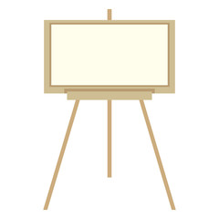 Vector Color Flat Icon - Easel with Canvas