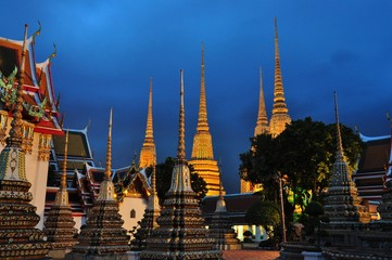 Stupa of Wat Pho in Thailand, Thailand