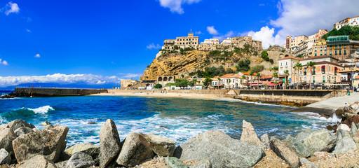 Italian summer holidays -Pizzo Calabro - beautiful coastal town in Calabria  Italy Wall mural